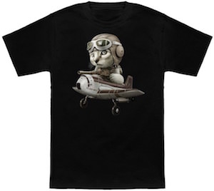 Cat As Fighter Pilot T-Shirt