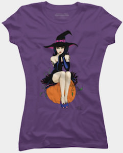 Witch Sitting On A Pumpkin T-Shirt