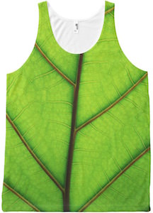 Green Leaf Tank Top for men and women