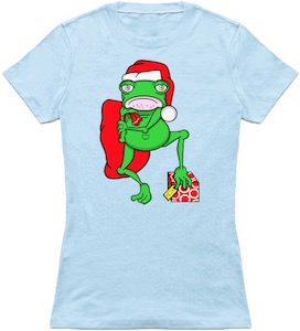 Santa Frog Ugly Christmas T-Shirt