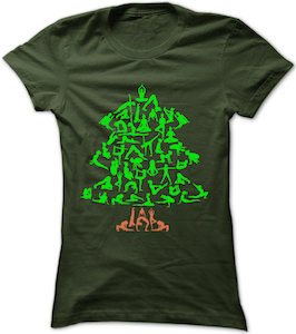 Yoga Christmas Tree T-Shirt
