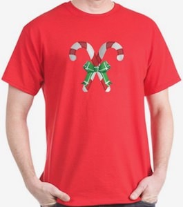Candy Cane And A Bow T-Shirt