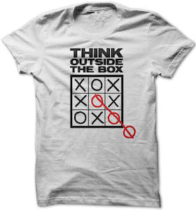 Tic Tac Toe Think Outside The Box T-Shirt