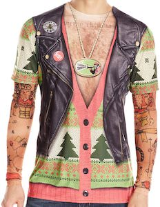 Biker Ugly Christmas T-Shirt