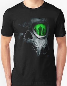 Gas Mask Battlefield t-shirt