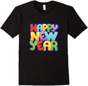 Colorful Happy New Year T-Shirt
