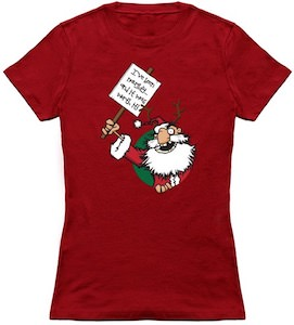 Naughty Santa Claus T-Shirt