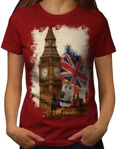 Big Ben And Union Jack Flag T-Shirt