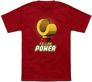 Yellow Power LEGO T-Shirt