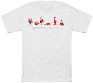 Yoga Santa Christmas T-Shirt