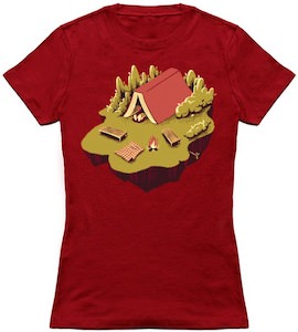 Fun Camping And Reading A Book T-Shirt