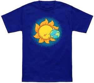 The Sun Hugging The Earth T-Shirt