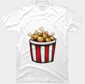 Fried Chicken Bucket T-Shirt