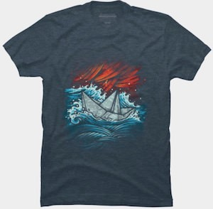 The Journey Of The Paper Ship T-Shirt
