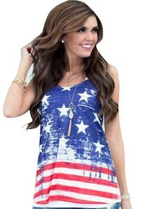 Women's US Flag Racerback Tank Top