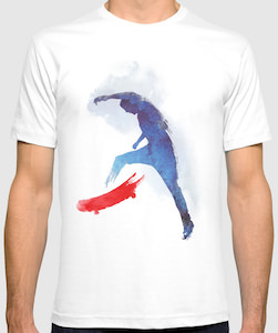 Painted Skateboarder T-Shirt