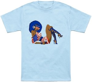 Funky Girl Ready For The 4th Of July T-Shirt