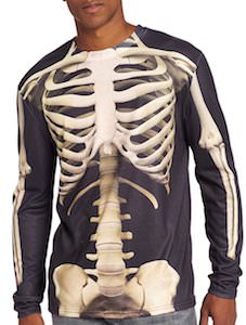 Long Sleeve Skeleton Costume T-Shirt