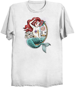 Tattoo Style Mermaid T-Shirt