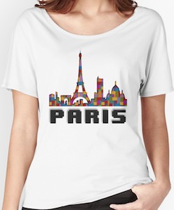 LEGO Bricks Paris Skyline T-Shirt