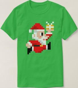 8 Bit Santa T-Shirt