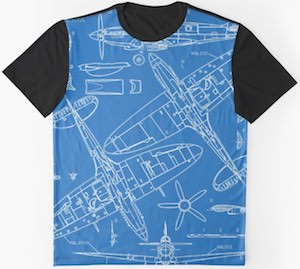 Spitfire Blueprint T-Shirt