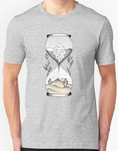 Time Is Running Out Hourglass T-Shirt