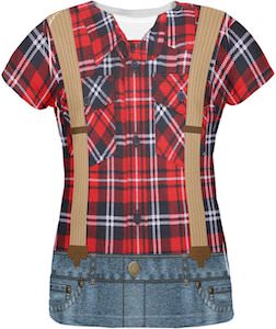 women's Lumberjack Costume T-Shirt