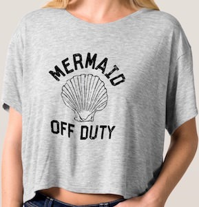 Mermaid Off Duty Crop Top T-Shirt