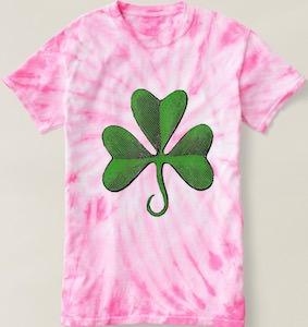 Pink Tie Dye St Patrick's Day T-Shirt