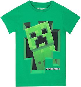 Kids Minecraft Creeper T-Shirt
