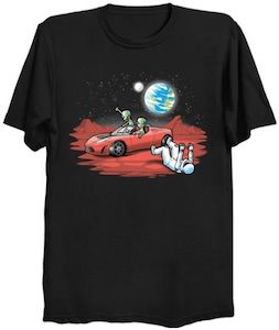 Aliens Take The Tesla T-Shirt