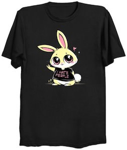 I Hate People Bunny T-Shirt