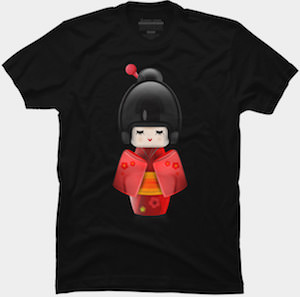Japanese Geisha Figure T-Shirt