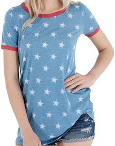 Blue And Stars T-Shirt