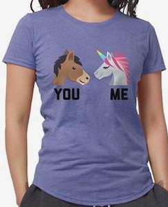 Horse VS Unicorn You VS Me T-Shirt