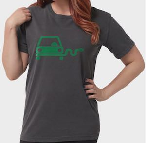 Green Electric Car T-Shirt