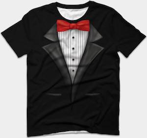 Bow Tie Tuxedo Costume T-Shirt