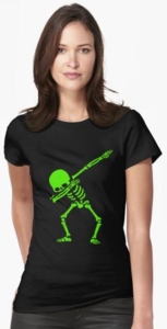Dabbing Green Skeleton T-Shirt