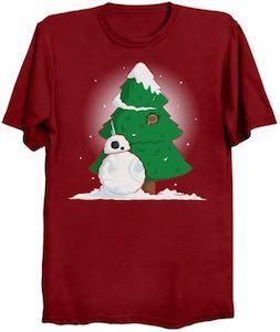 Star Wars BB-8 Snowman T-Shirt