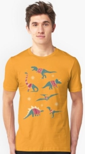 Dinosaurs In Ugly Christmas Sweaters T-Shirt