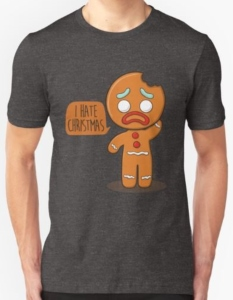 Gingerbread Man Hate Christmas T-Shirt