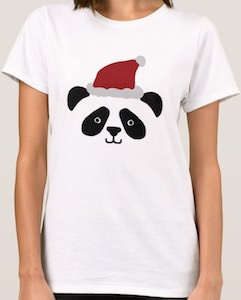 Santa Claus Panda Bear T-Shirt