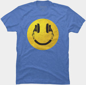 Music Smiley T-Shirt