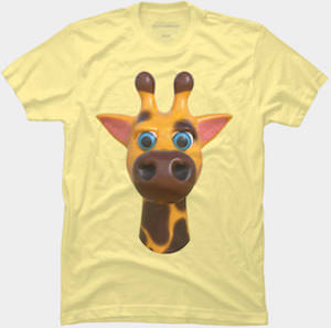 Giraffe Face T-Shirt
