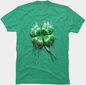 St Patrick's Day Dripping Shamrock T-Shirt