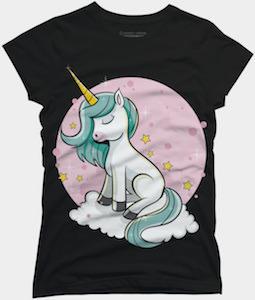 Unicorn On A Cloud T-Shirt
