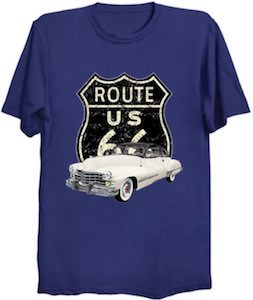 Classic Car On Route 66 T-Shirt