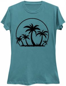Palm Trees In The Sun T-Shirt