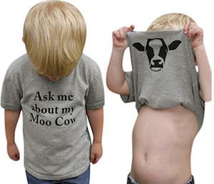 Kids Ask Me About My Moo Cow T-Shirt